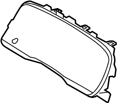 Mercury Grand Marquis Instrument Panel Lens. MECHANICAL