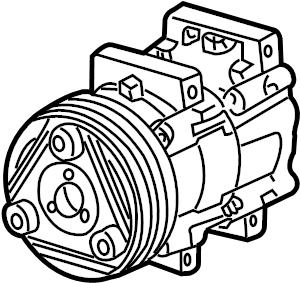 Ford Windstar A/c compressor. Liter, air, lines