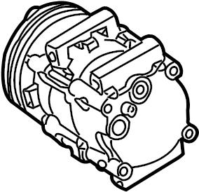 Mercury Sable A/c compressor. Liter, air, lines