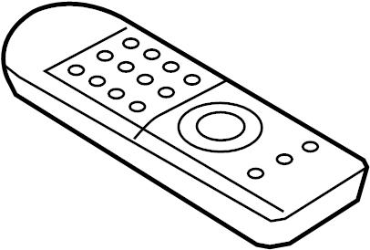 Mercury Sable Dvd player remote control. Entertainment