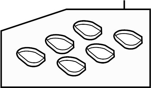 Mercury Monterey Gasket. Manifold. Plenum. Intake. 4.2