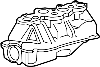 Ford E-150 Club Wagon Engine Intake Manifold. Lower, LITER