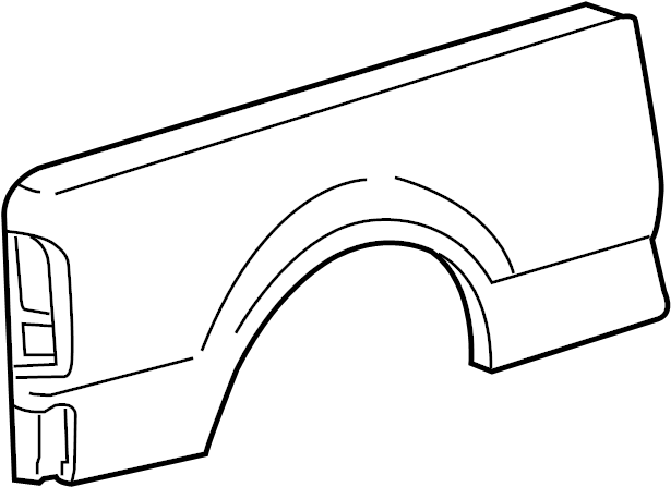 Ford F-150 Truck Bed Panel. STYLESIDE, 8 foot bed, w/o whl