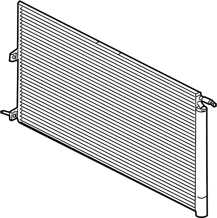 Lincoln Navigator A/c condenser. Air, conditioning