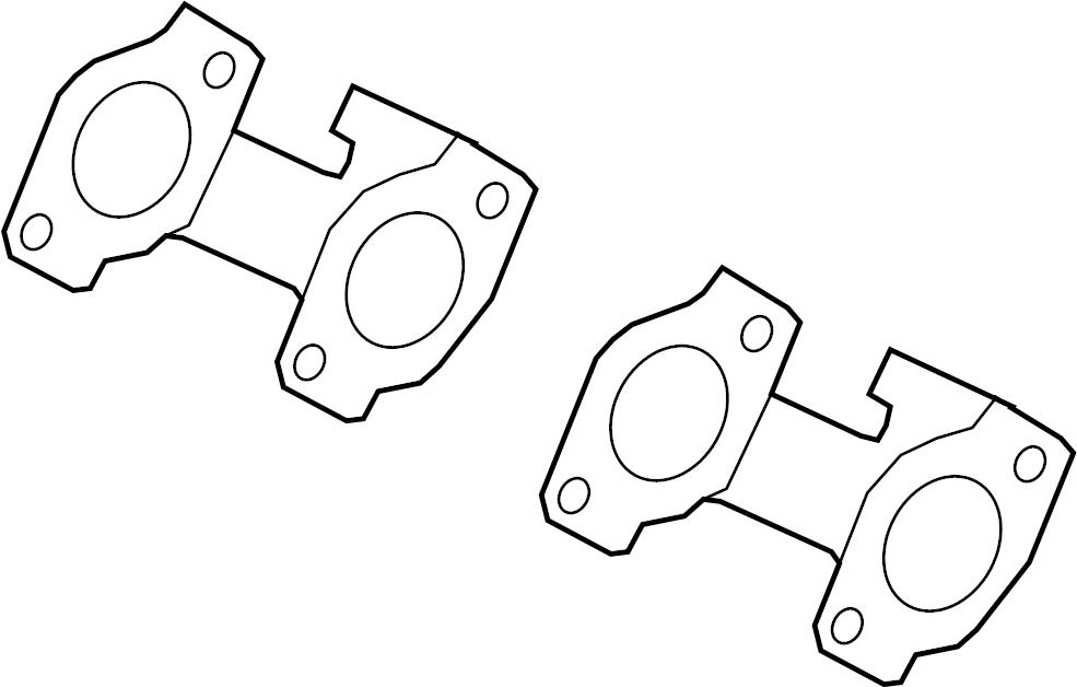Ford Explorer Exhaust Manifold Gasket. LITER, VALVE