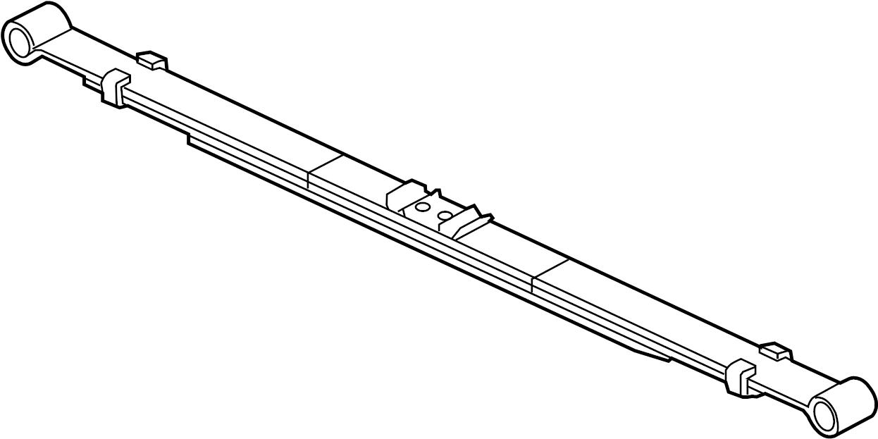 Ford F-150 Leaf Spring. Code, SUSPENSION, Marked