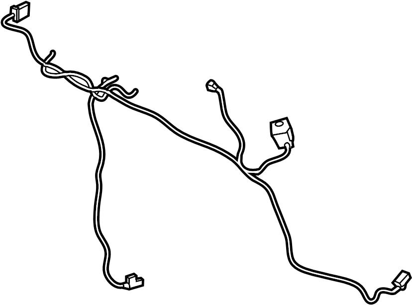 Ford F-150 Hvac system wiring harness. W/dual ac. W/o