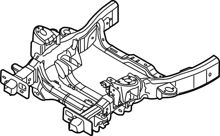 Ford F-150 Frame Rail (Front). REGULAR CAB, w/4WD, w/141