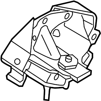Ford F-150 Automatic Transmission Mount. ENGINE, Replace