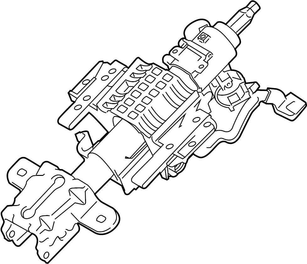 Ford F-150 Steering Column. MANUAL, TILT, Shift