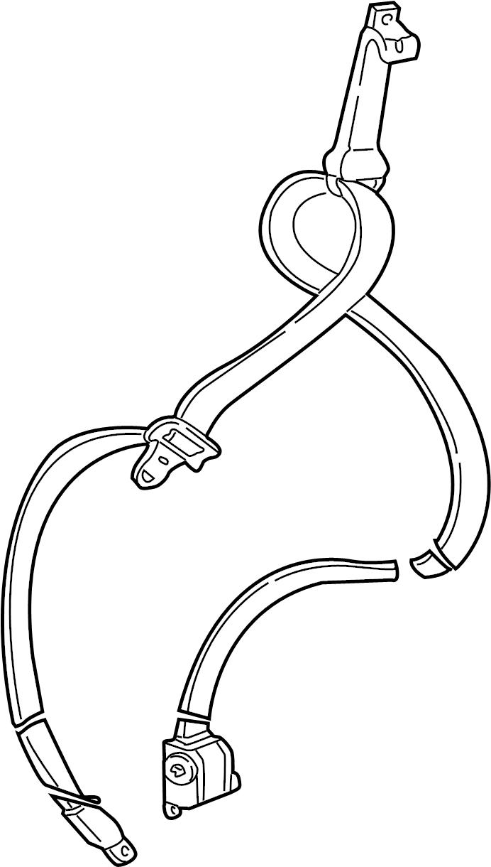Ford E-250 Econoline Seat Belt Lap and Shoulder Belt