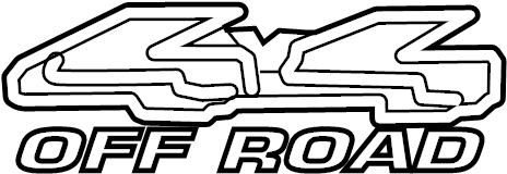 Ford Ranger Exterior Decal. STYLESIDE, BODY SIDE, 4x4 OFF