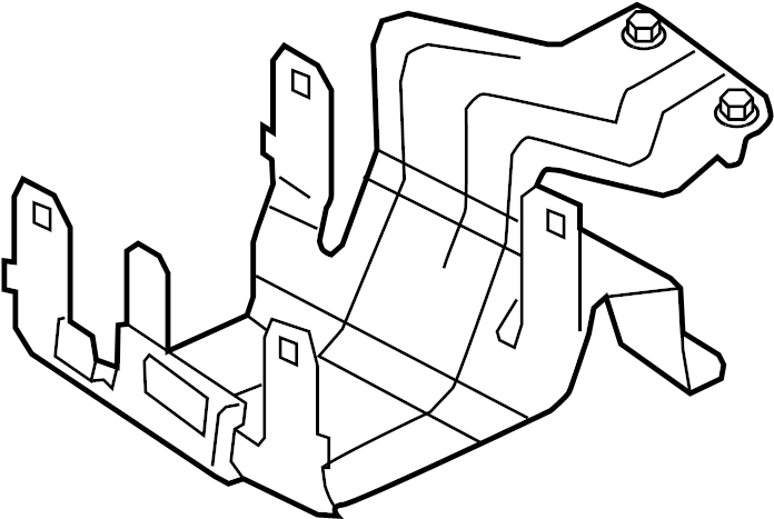 Ford Ranger Junction Block Bracket. FUSE AND RELAYS