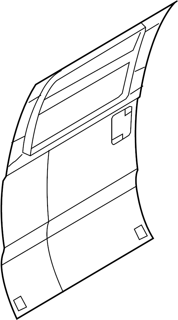Ford F-550 Super Duty Door Outer Panel. CREW CAB. REAR