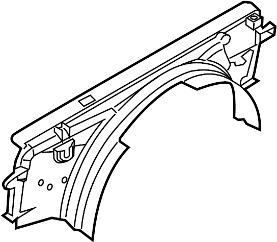 Ford F-250 Super Duty Engine Cooling Fan Shroud