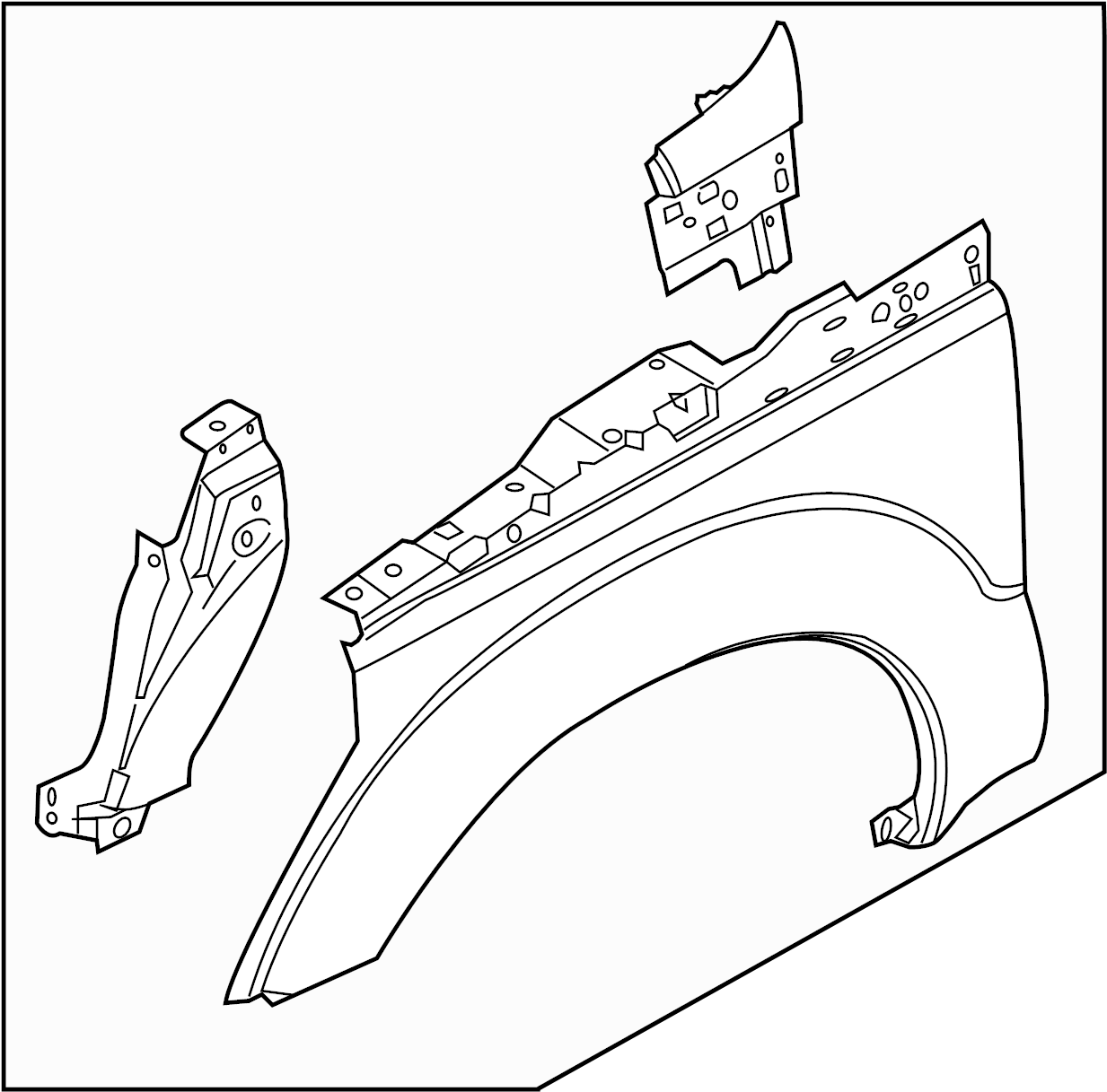 Ford F-450 Super Duty Fender. F450. Right, COMPONENTS