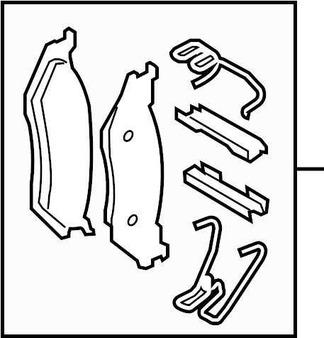 Ford F-250 Super Duty Disc Brake Pad Set. Pads, MONOBEAM