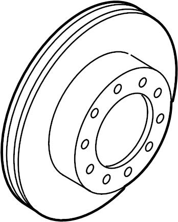 Ford F-350 Super Duty Disc Brake Rotor. Single, Right