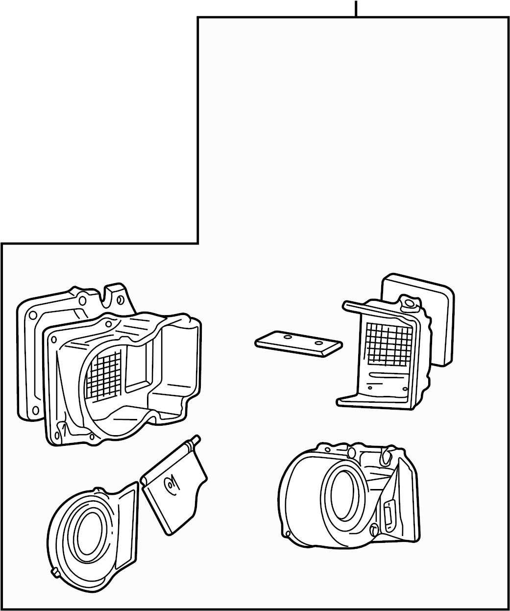 Ford F-450 Super Duty A/c evaporator core and case