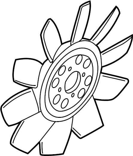 Lincoln Mark LT Engine Cooling Fan Clutch Blade