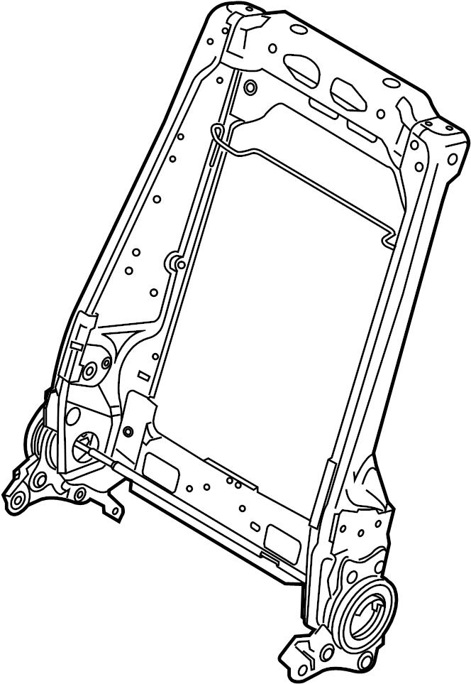 Ford Explorer Seat Back Frame. INTERCEPTOR, Front, POLICE