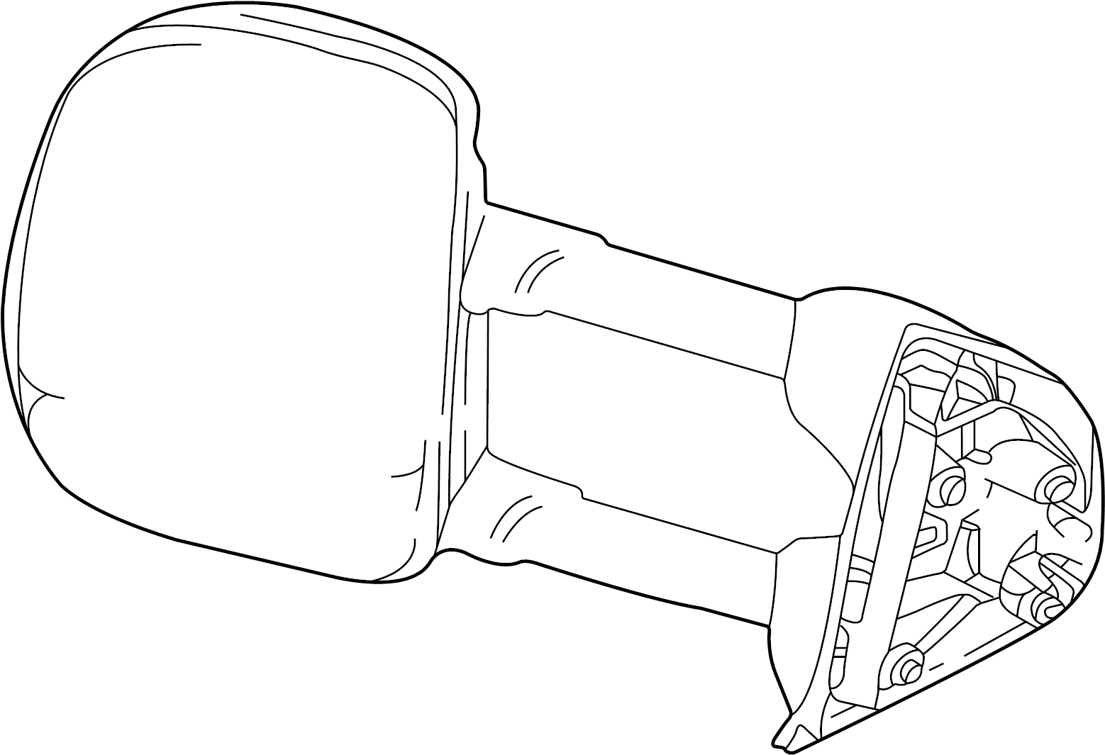 Ford F-250 Super Duty Door Mirror. Left, FRONT, Replace