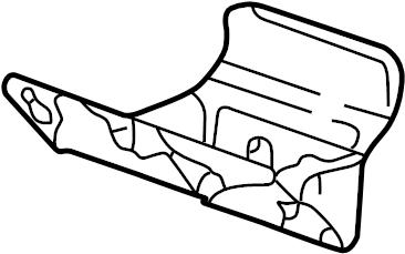 Ford F-250 Super Duty Interior Door Handle Trim. CREW CAB