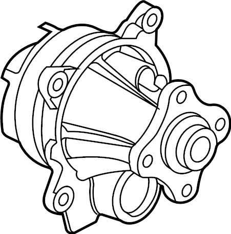 Ford Transit-350 HD Engine Water Pump Assembly. 2.0 LITER