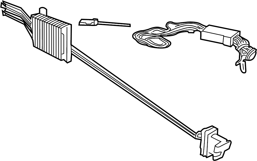 Lincoln Aviator Trailer Tow Harness. ACCESSORY, Rear, Wire