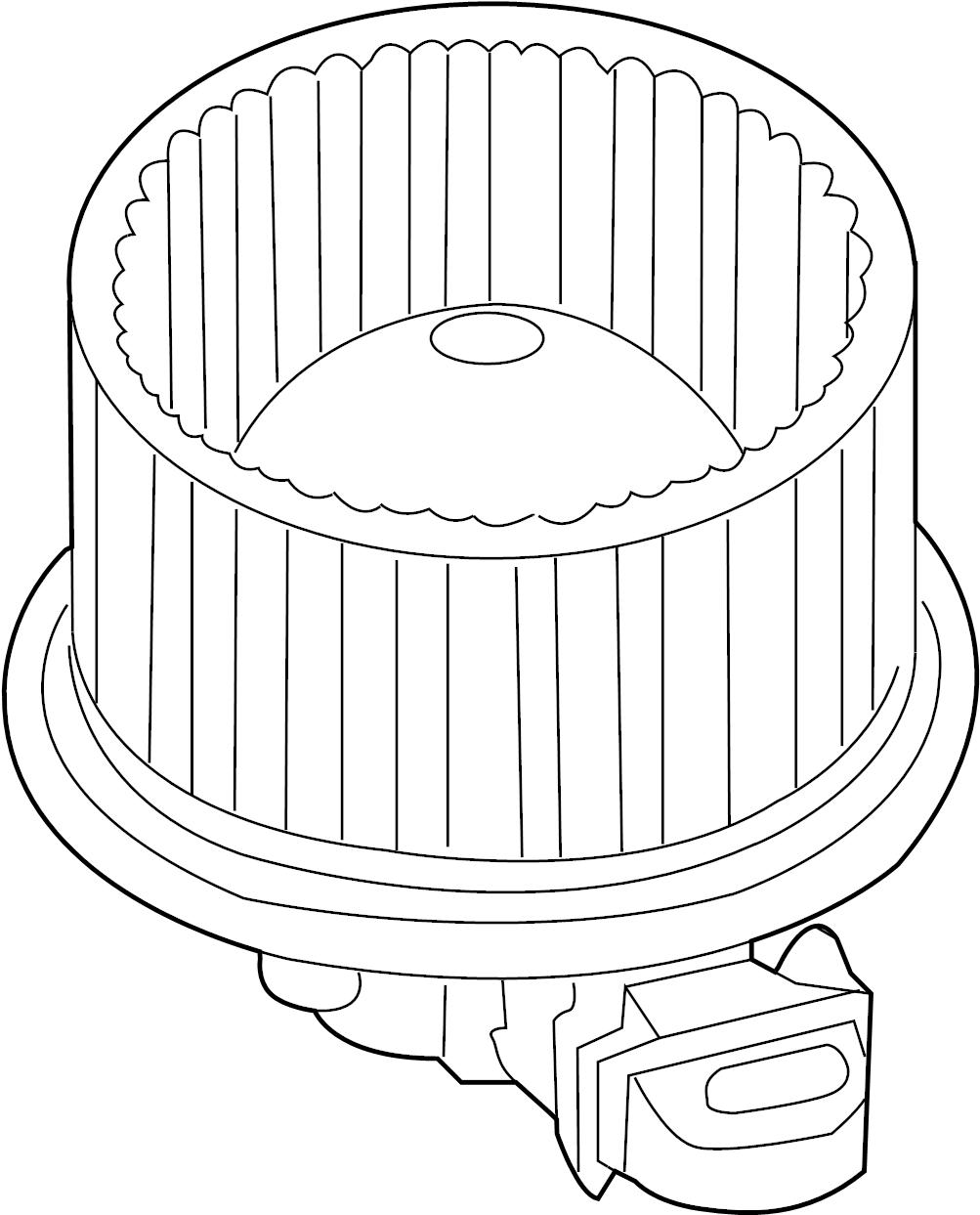 Mercury Mariner Fan and motor assembly. Hvac blower motor