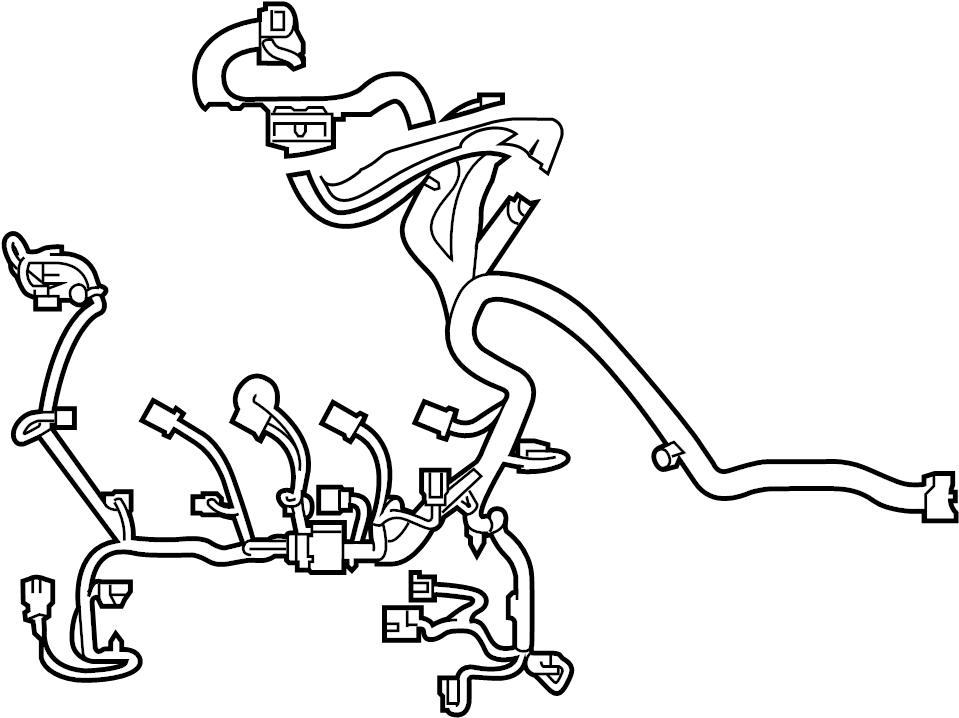 Ford Escape Engine Wiring Harness. 2.5 liter. Telematics