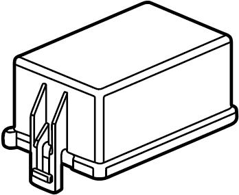 Ford E-350 Super Duty Fuse Box Cover. ENGINE COMPARTMENT