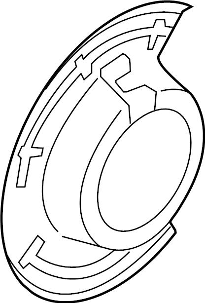 Ford F-250 Super Duty Brake Dust Shield. F450, F550; Left