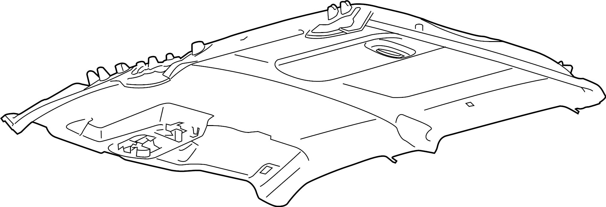Ford F-250 Super Duty Headliner. CREW CAB, HEADLINER