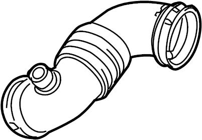 Mercury Mariner Engine Air Intake Hose. 2.5 LITER, w/auto