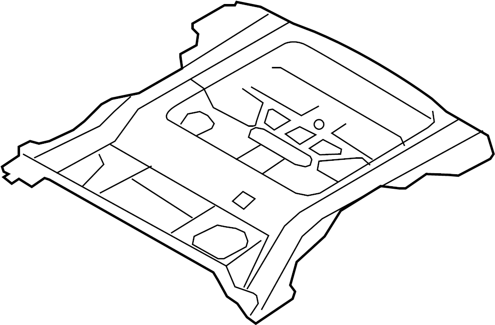Mercury Mariner Floor Pan. 2005-07. Rear, BODY, RAILS