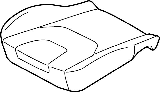 Ford Edge Seat Cover. DRIVER SEAT-MANUAL, cloth, ebony