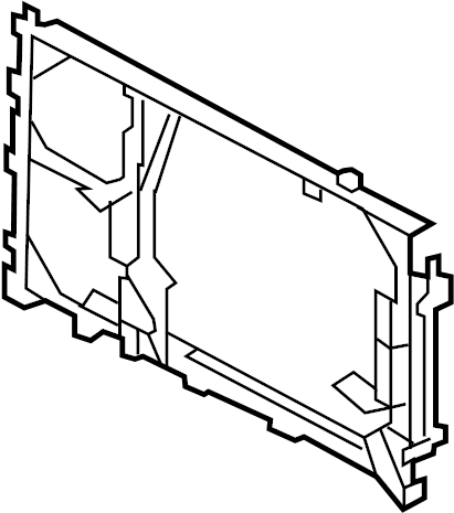 Lincoln Navigator A/c condenser mount. 2007-08. 2007-14