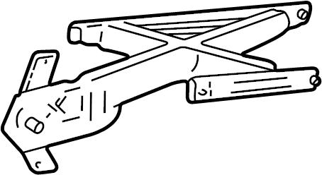 Lincoln Aviator Regulator. Window. MOTOR. Aviator; Left