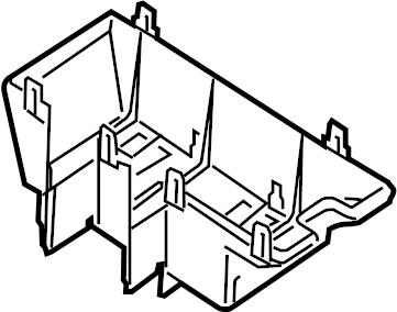Lincoln MKX Fuse Box Cover. ENGINE COMPARTMENT. Telematics