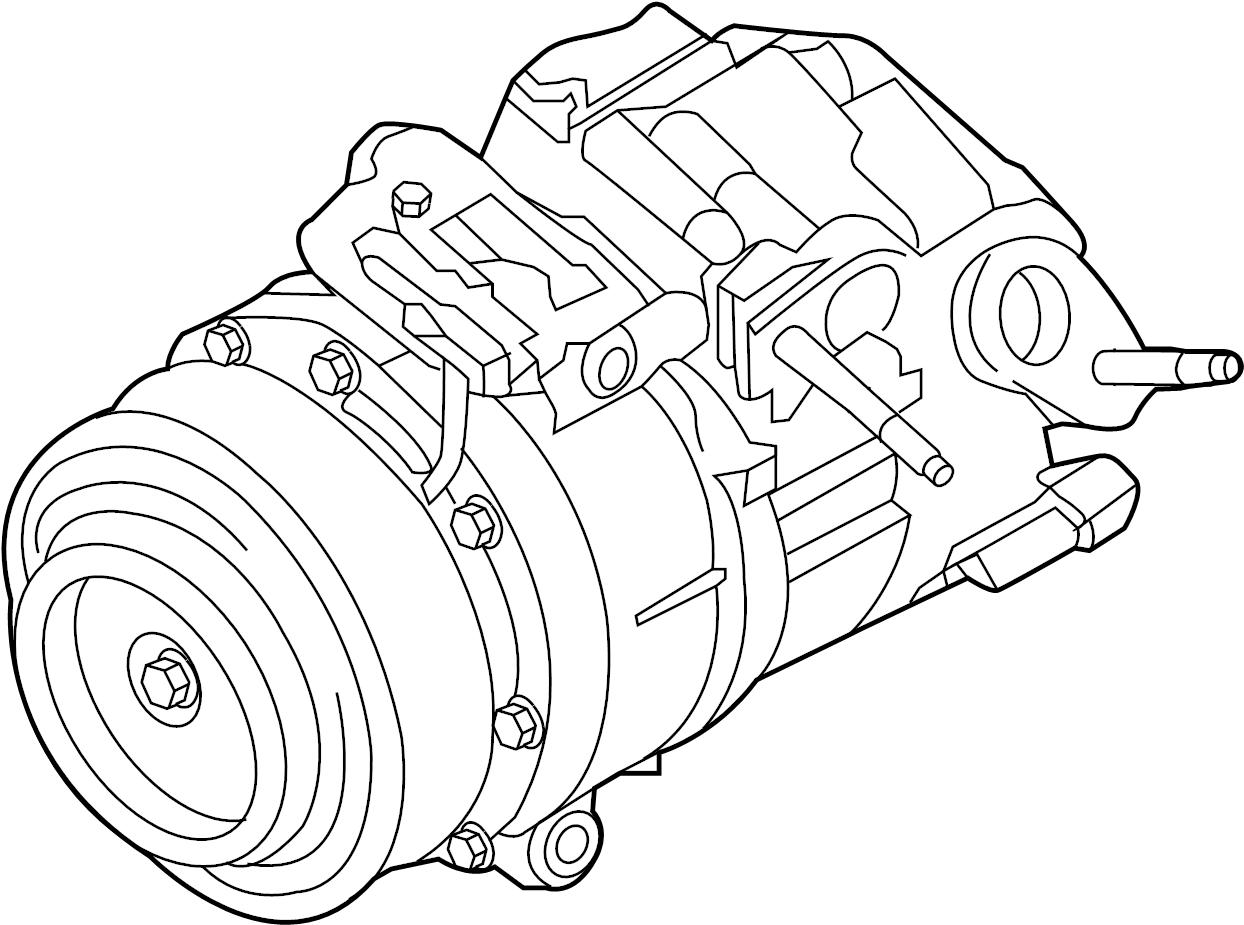 Lincoln Continental A/c compressor. Liter, repair, assy