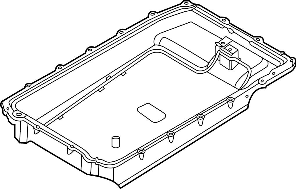 Ford Explorer Automatic Transmission Oil Pan. 3.3 LITER