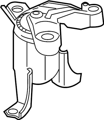 Ford Fiesta Engine Mount. TRANS, LITER, BEARINGS