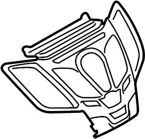Ford Fiesta Instrument Panel Bezel. 2014-19, w/SYNC, w/ST