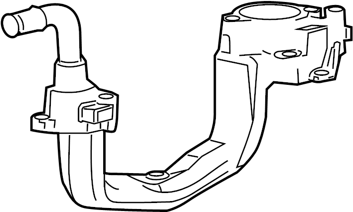 Ford F-150 Engine Coolant Thermostat Housing (Lower