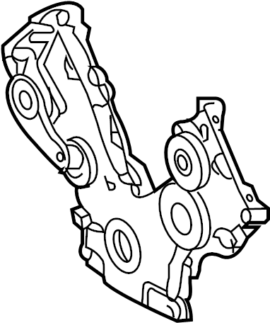 Ford F-150 Engine Timing Cover. LITER, BEARINGS, SOHC
