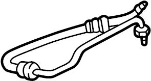 Ford F-150 Power Steering Pressure Hose. GEAR, HOSES, PUMP