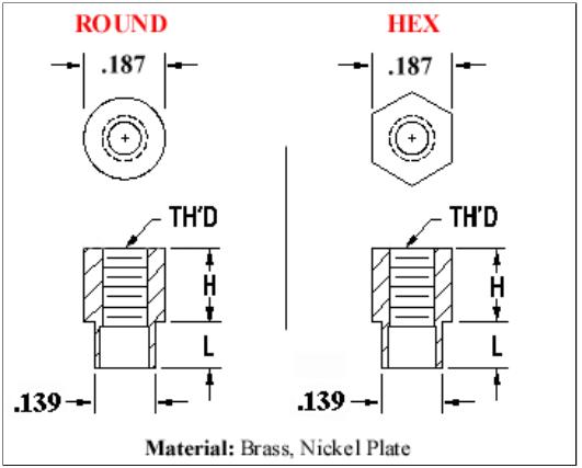 Round / Hex 3/8