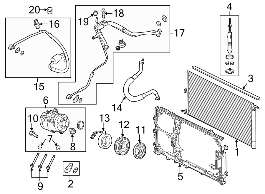 Ford F-150 Air. Accumulator. Drier. (a/c). Conditioning