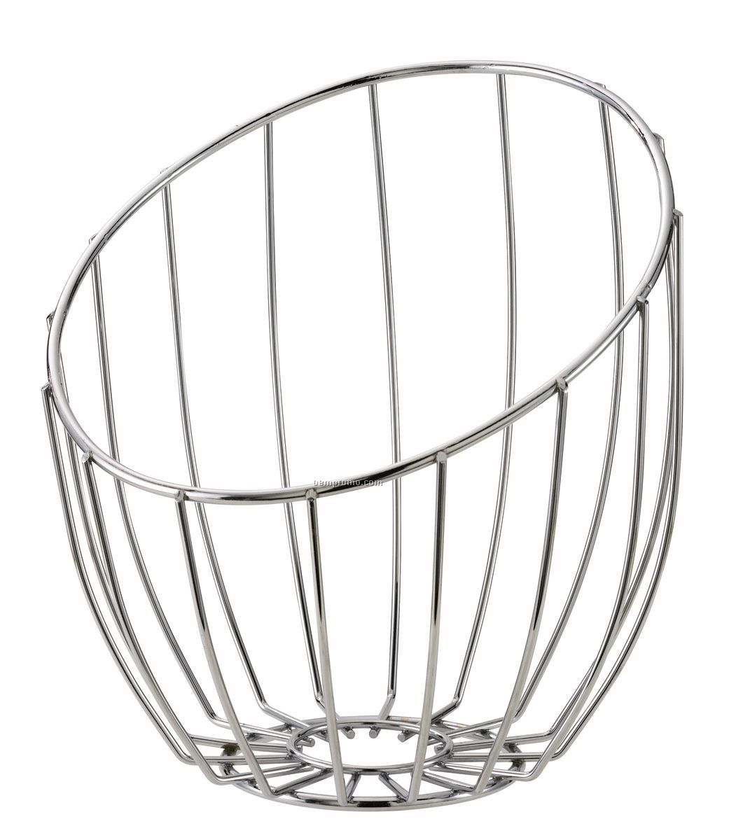 Chromed Metal Stainless Steel Wire Tall Bread Basket China Wholesale Chromed Metal Stainless